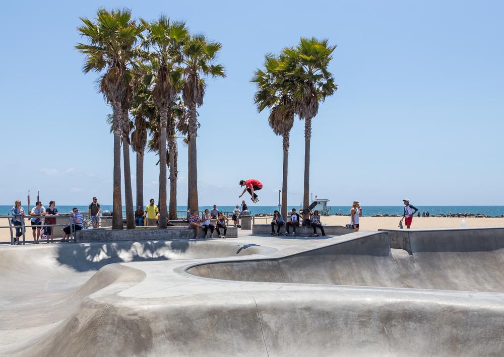 Skatepark przy plaży Venice Beach